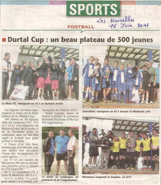 Thumbnail les nouvelles durtal cup 2011